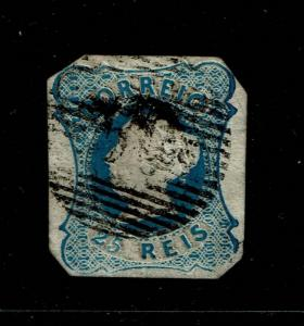 Portugal SC# 2, Used, side/margin shallow thin, minor embossing tears - S6534