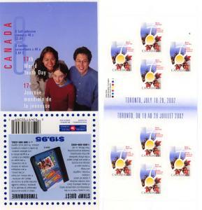 Canada - 2002 48c World Youth Day Booklet VF-NH #BK261b