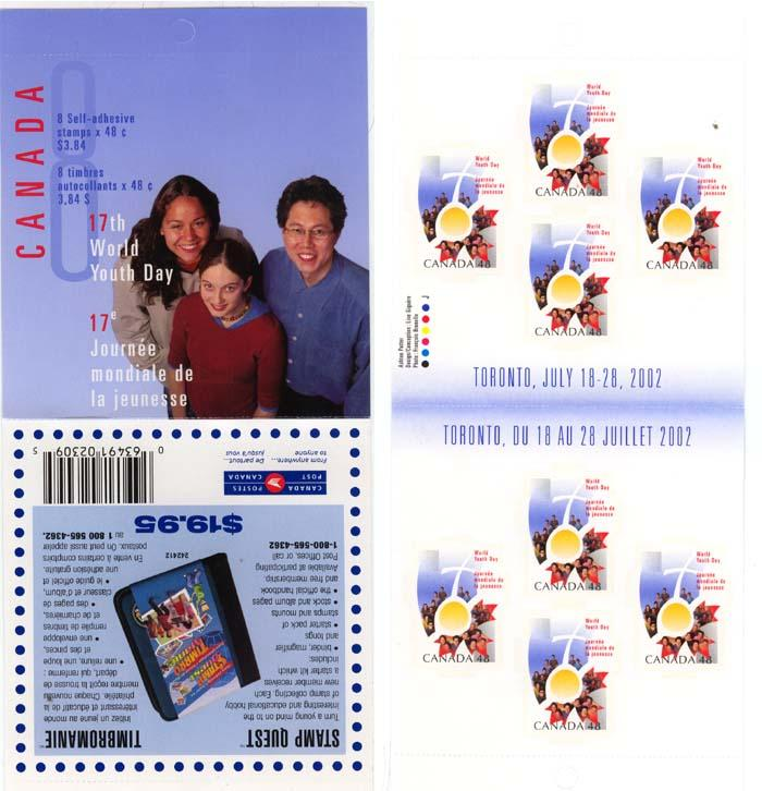 Canada - 2002 48c World Youth Day Booklet VF-NH #BK261b