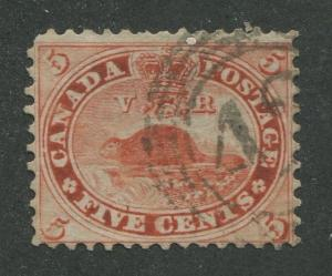 CANADA #15 USED 4-RING NUMERAL CANCEL 42 (.01)
