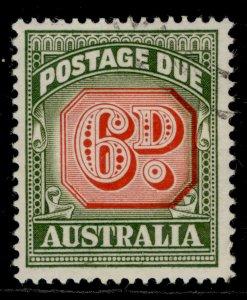 AUSTRALIA QEII SG D137, 6d carmine and deep green, FINE USED.