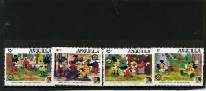 ANGUILLA 1985 WALT DISNEY CHRISTMAS/BROTHERS GRIMM SET OF 4 STAMPS MNH