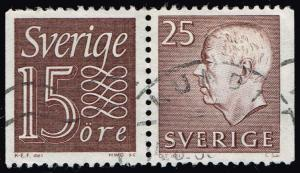 Sweden #583;667 Pair from Combo Booklet; Used (1.05)