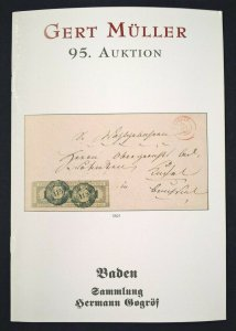 Auction Catalogue BADEN Sammlung HERMANN GOGRÖF Covers Germany