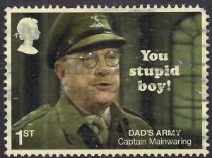 GB 2018 QE2 1st Class Dads Army used stamp - L1119