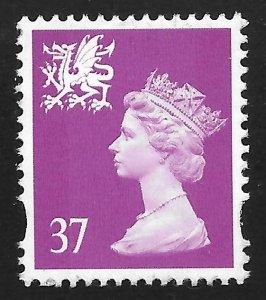 Great Britain - Wales & Monmouthshite #WMMH82 37p Queen Elizabeth II ~ MNH