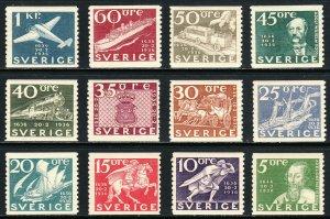 1936 Sweden 300th Anniv of Swedish Postal Service MNH Sc# 251 / 262 CV $300