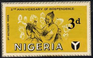 Nigeria 1962 Second Anniversary of Independence - origina...