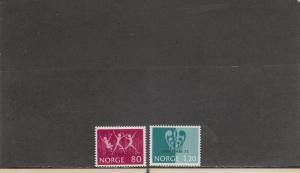NORWAY 594-595 MNH 2019 SCOTT CATALOGUE VALUE $6.50
