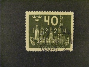 Sweden #204 used  a21.9 3239