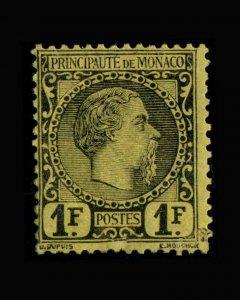 VINTAGE: MONACO 1885 OG,LHR ,LT  FACIAL CR  SCOTT #9 $ 1750 VSAMONAC1885H-B85