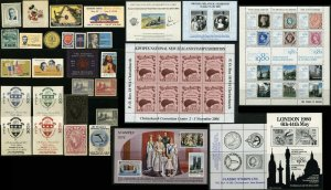 Stamp Exhibit Show Worldwide Philatelic Label Cinderella Postage Collection