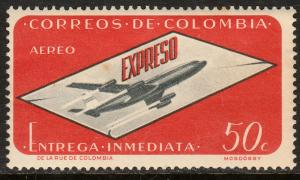 COLOMBIA CE3, AIR MAIL SPECIAL DELLIVERY. MNH. (287)