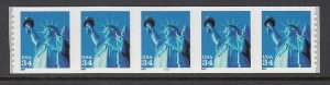 USA PNC SC# 3477 LIBERTY $0.34c PL# 5555 BOLD LARGE DATE S.A.- PNC5 MNH