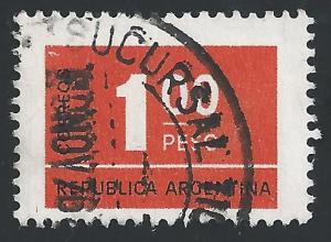Argentina #1114 1p Numeral Type