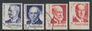 SG 505-508  Fine Used  Famous Australians  4th Series - bottom left imperf ma...
