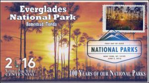 2016, National Parks, Centennial, Everglades, Digital Color Postmark, 16-153