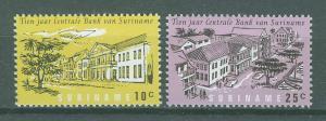 SURINAM/SURINAME 1967 MNH SC.343/344 Central Bank of Surinam 10th