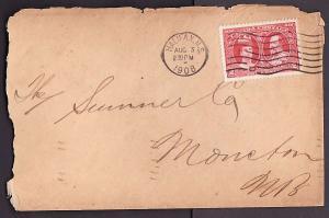 Canada #10036 - 2c Tercentenary - Halifax , NS - Au 3 1908 -