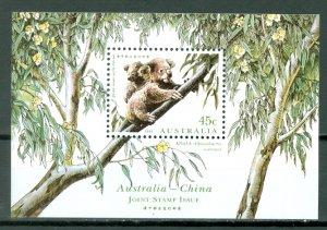 AUSTRALIA WILDLIFE  KOALAS #1459c..SOUV. SHEET...MNH...$2.25