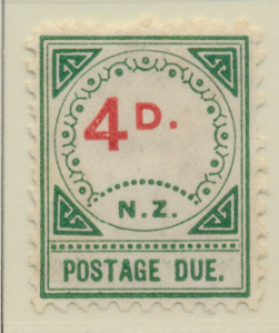 New Zealand Stamp Scott #J5, Unused, Small D & NZ, No Gum, Toning - Free ...