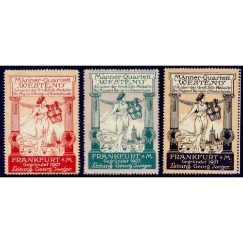 Germany - Manner-Quartet Westend Poster Stamps
