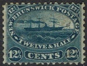 NEW BRUNSWICK 1860 SHIP 12.5C LIGHT USED