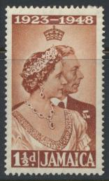 Jamaica SG 143   Mint Hinged  SC# 138  Royal Silver Wedding    see details