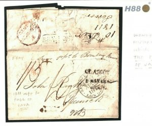 INDIA Cover WARS 1811 *BRITISH INVASION JAVA* Batavia DEI London SHIP LETTER H88