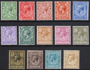 GB GV 1912 Part Set SG351-SG396 Mint Lightly Hinged Mostly MLH