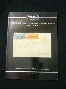 PHILLIPS AUCTION CATALOGUE 1988 ALPHONSE NAPLES, NEAPOLITAN PROVINCES & SICILY