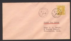 1st day non cachet cover Canada stamp No. 198 4c George V Medallion issue stamp