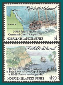 Norfolk Island 1991 Bounty Search, MNH 516-517,SG508