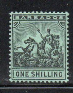 Barbados Sc 100 1910 1/ black seal of colony stamp mint