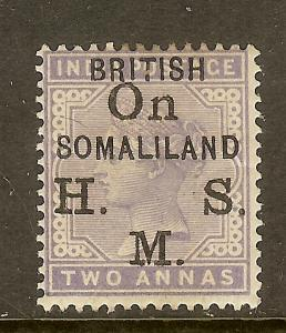 Somaliland Protectorate, Scott #O3, Overprinted 2a Queen Victoria Official, MH