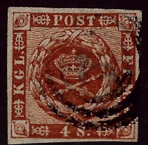 Denmark SC#7 Used F-VF...steal the deal!!