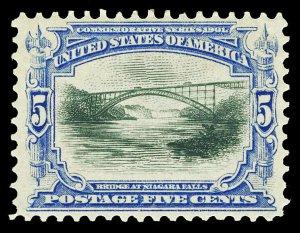 Scott 297 1901 5c Ultramarine & Black Pan-American Issue Mint F-VF OG LH Cat $75
