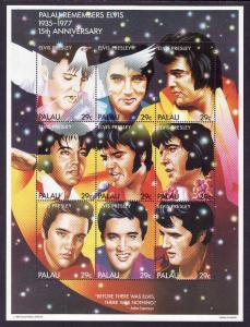 Palau-Sc#310- id7-unused NH sheet-Music-Elvis Presley-1992-