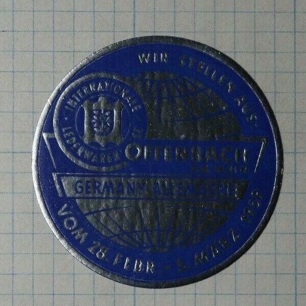 Offenbach Am Main Germany Allemmagne 1959 Exposition Poster Stamp Ads