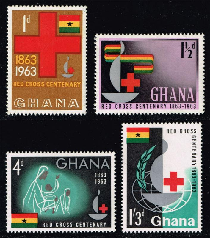 Ghana #139-142 Red Cross Centennial Set of 4; Unused (4.20)
