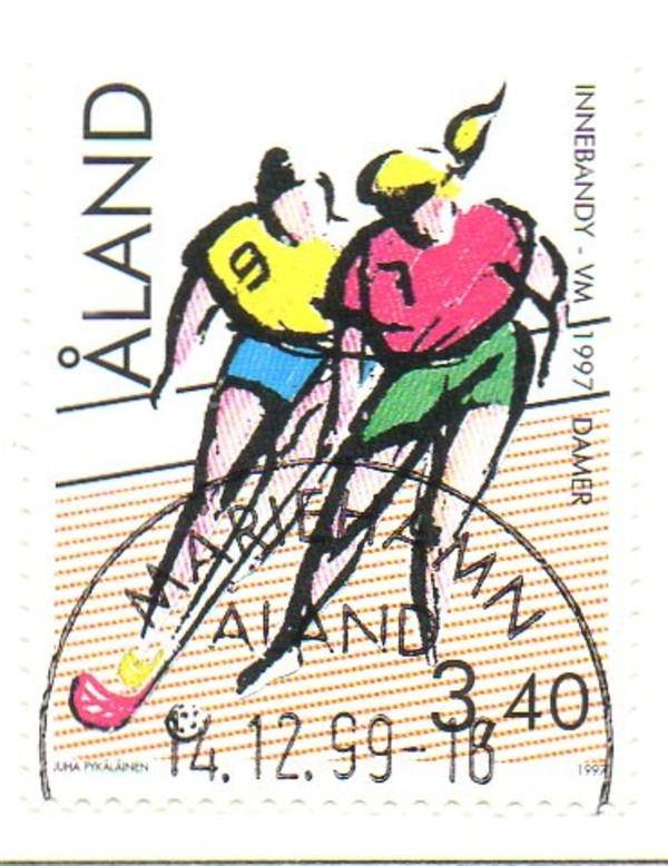 Aland Sc  134 1997 Floorball Championships stamp used