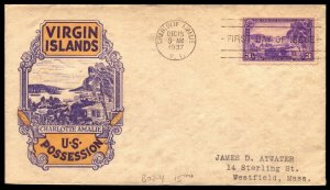 Scott 802 3 Cents Virgin Islands Staehle FDC Typed Address Planty 802-11