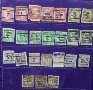 US lot precancel sc#567-571 623 697-701 color shade print set variety