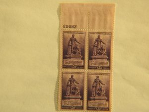 U. S. #902  MINT block  OG  NH