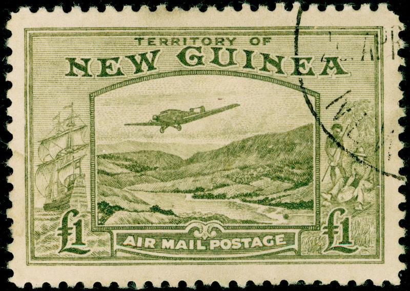 AUSTRALIA - Papua New Guinea SG225, £1 olive-green, FINE USED, CDS. Cat £150