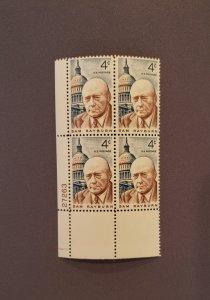 1202, Sam Rayburn, Plate Block LL, Mint OGNH, CV $2.00