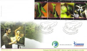 COSTA RICA FAUNA of NATIONAL PARKS, BIRD, OWL, FROGS Sc 609 FDC 2007