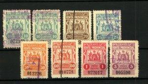 Cordoba 1902 Range of Documentary Renta Provincial Revenues with Controls (8v)