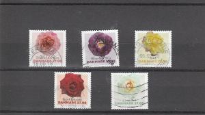 Denmark  Scott#  1794-1798  Used  (2018 Roses)