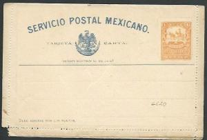MEXICO Early 4c lettercard unused..........................................66172